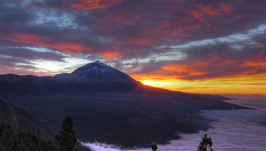 Закат на вулкане Тейде, Тенерифе, Канарские острова